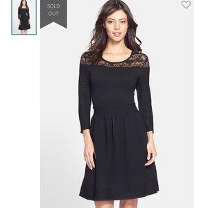 Sz M Black Sweater/Lace Dress by Jessica Simpson